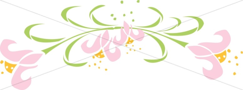 Pink Easter Lily Accent