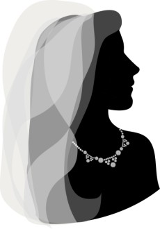 Silhouette Gazing Bride