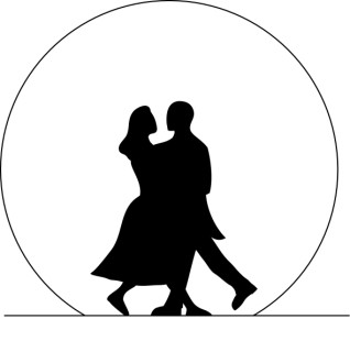 Dancing Couple Surrounded by Moon