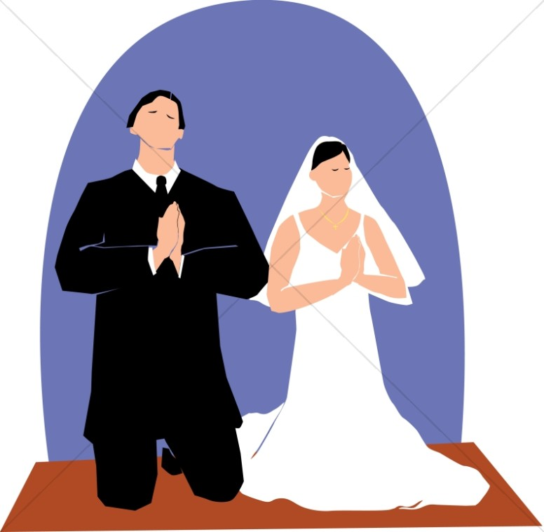 Couple Kneeling in Prayer