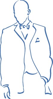 Blue Outline Groom