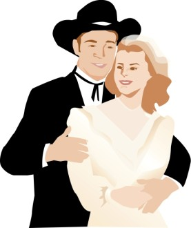 Western Wedding Couple