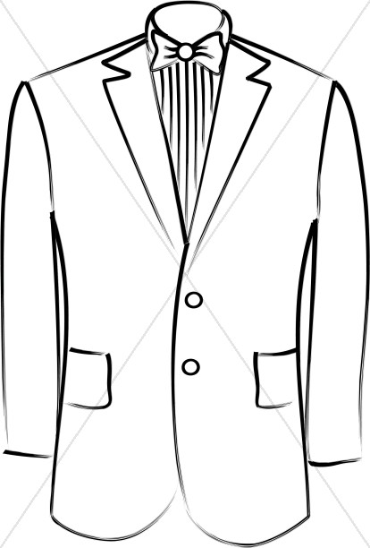 Tuxedo Jacket Christian Wedding Clipart