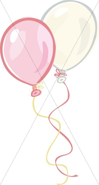 Pink and White Transparent Balloons