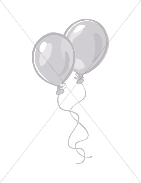 Two Balloons in Black and White