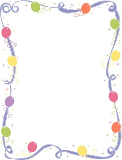 Ribbon Frame with Balloons