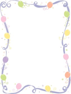 Faded Whimsical Ribbon and Balloon Frame