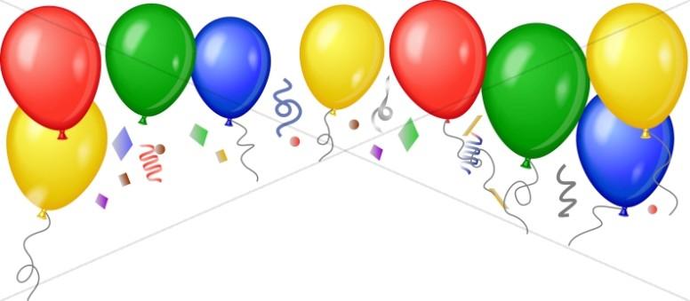 Bold Birthday Balloon Header