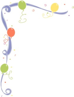 Whimsical Ribbon and Birthday Balloons Corner