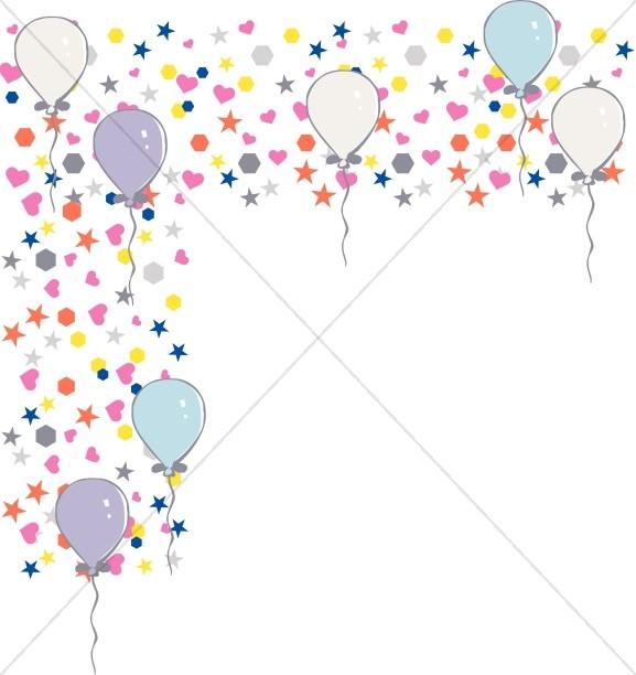 Birhgt little Shapes and Birthday Balloons Corner