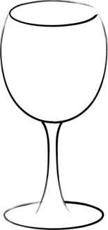 Wine Glass Line Art