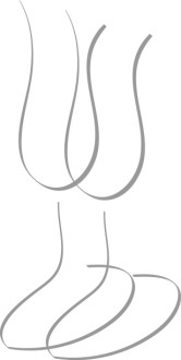 Abstract Wine Glass Couple