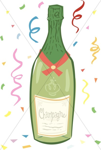 Bottle of New Year's Champagne