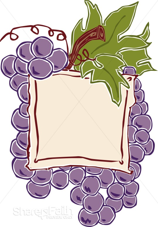 Grape Cluster Communion Announcement | Church Food Clipart