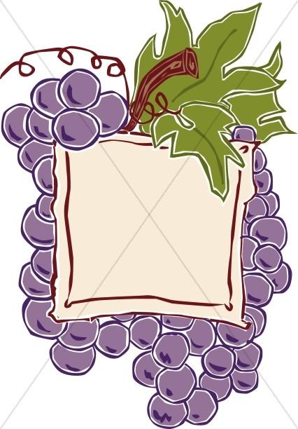 Grape Cluster Communion Announcement