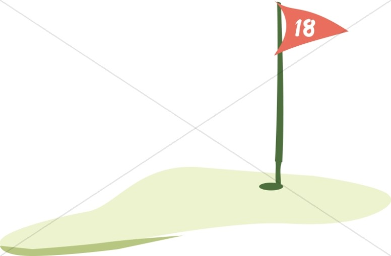 Eighteenth Hole Flag