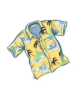 Yellow Hawaiian Shirt