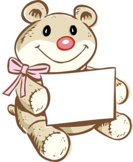 Bear Holding Greeting Card