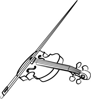 Violin Line Art