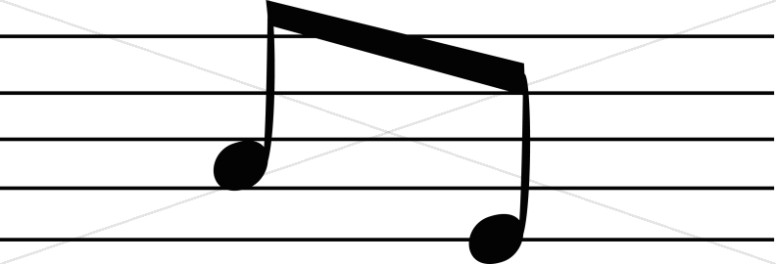 Two EighthNotes on a Staff