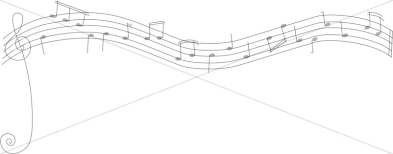 Musical Notes on Staff Divider