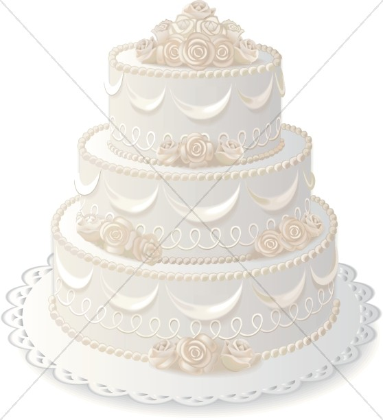 Anniversary Cake with Elegant Rose Decorations