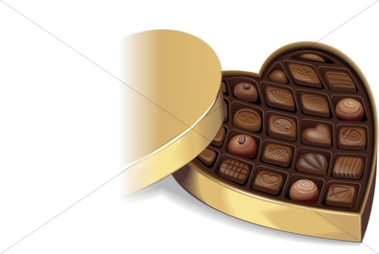 Realistic Heart Shaped Box of Chocolates