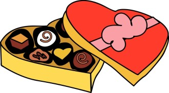 Romantic Cartoon Box of Chocolates