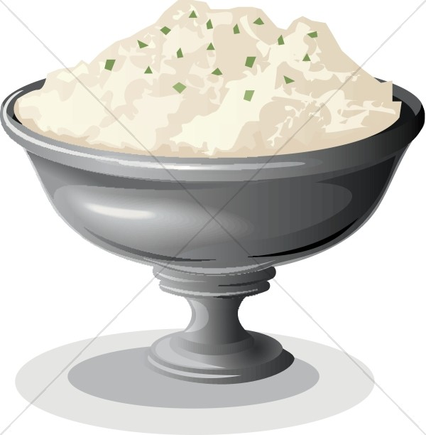 Bowl of Mashed Potatoes