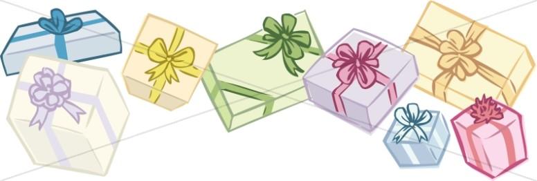 Birthday Gifts Horizontal Border