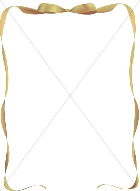 Gold Ribbon Frame with Bow