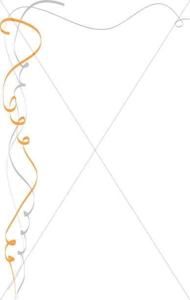 Calligraphic Ribbon Page Side