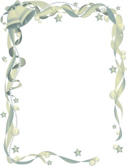 Ornate Wedding Bell Ribbon Frame 2