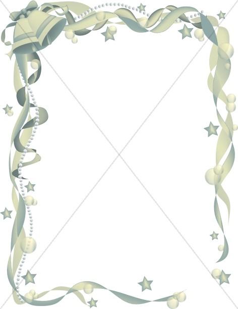Ornate Wedding Bell Ribbon Frame 2