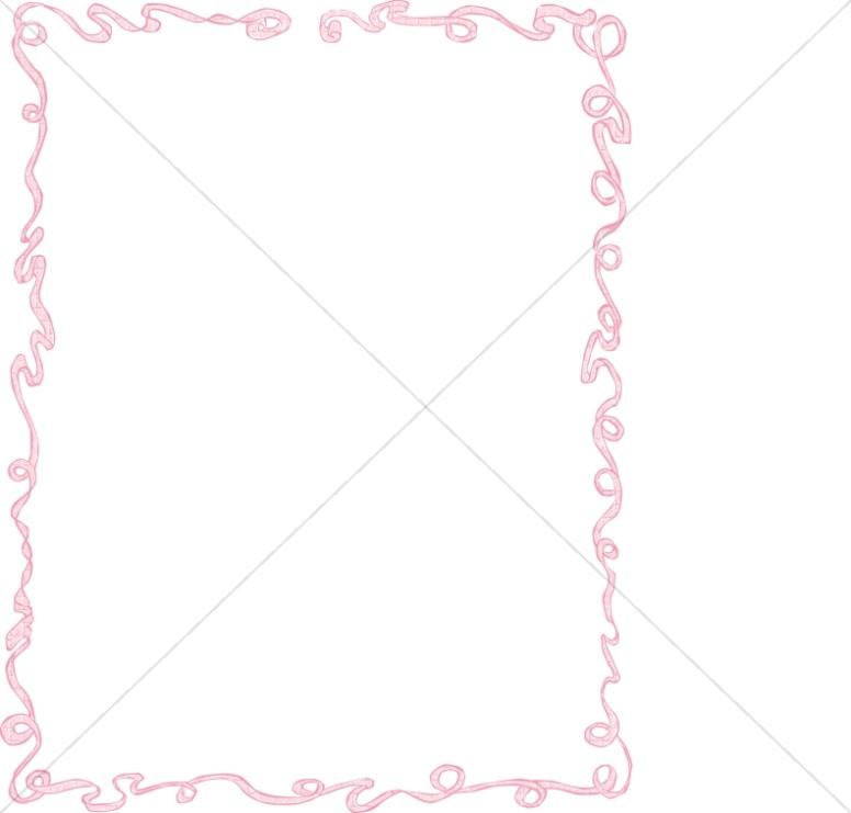 Pink Party Ribbon Frame