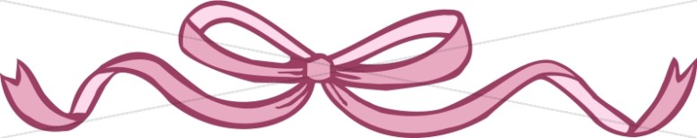 Red Ribbon Tied in Bow