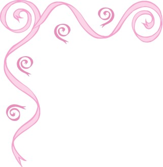 Pink Ribbon Swirl Upper Left Corner