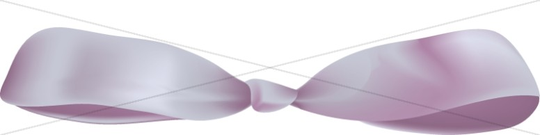 Realistic Purple Ribbon Bow