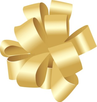 Gold Birthday Bow