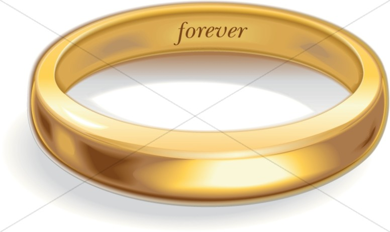 Forever Inside a Gold Wedding Band