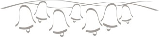 Abstract Gray Line String of Bells