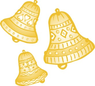 Gold Bells with Ornate Decoration
