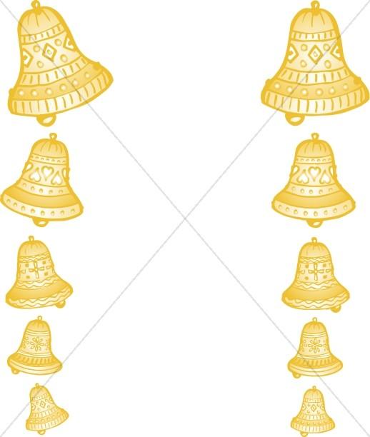 Strings of Golden Wedding Bells