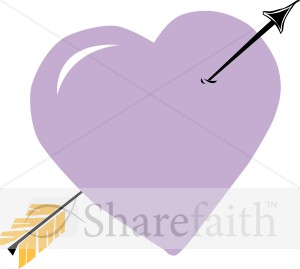 Arrow Through Purple Heart