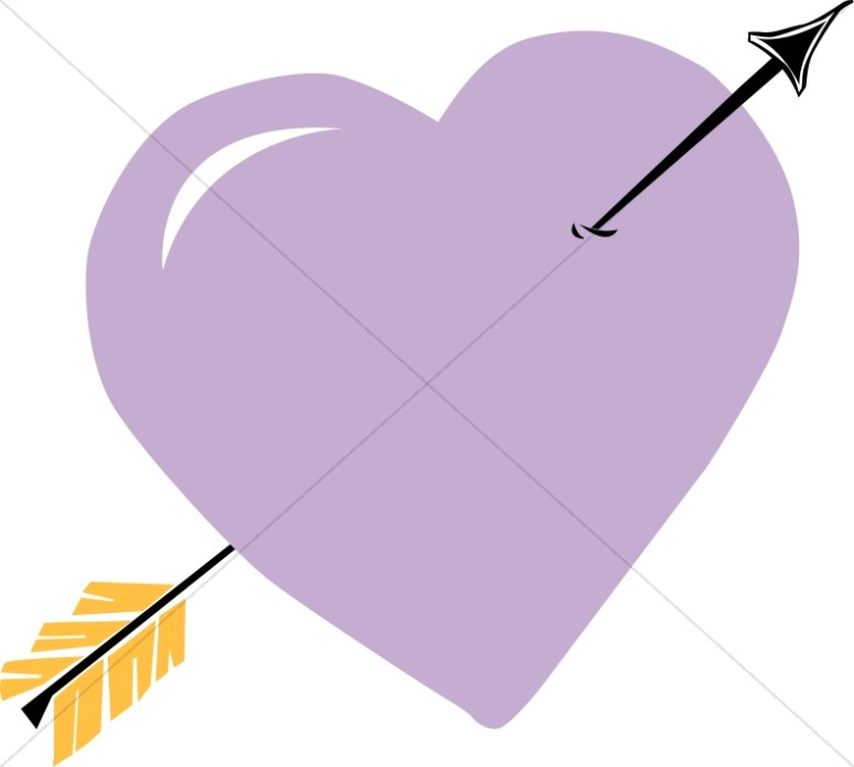 Arrow Through Purple Heart