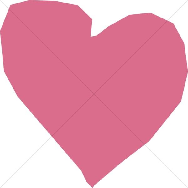 Pink Cutout Heart