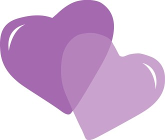 Pair of Purple Hearts