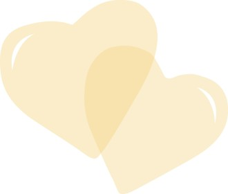 Pair of Yellow Hearts