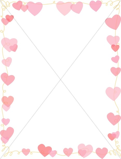 Pink Hearts on a String Full Frame