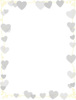 Silver Hearts Party Frame